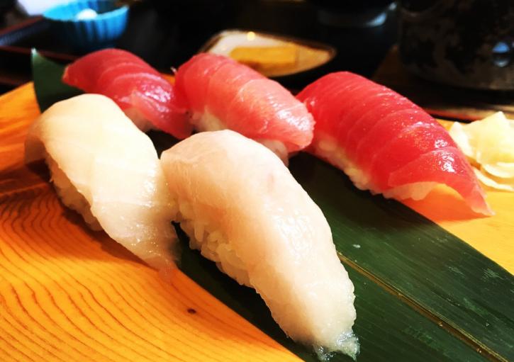 みさきまぐろきっぷを使って『割烹旅館 立花』のカマトロ陶板焼とお寿司のセット