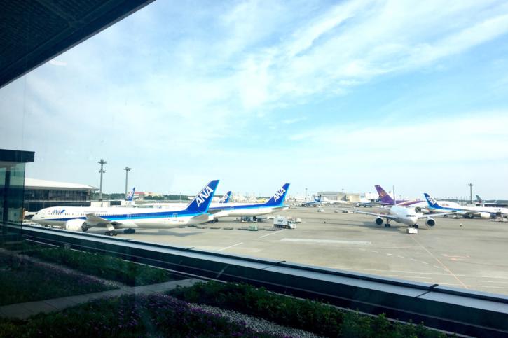 成田空港からANAでロサンゼルスへ!