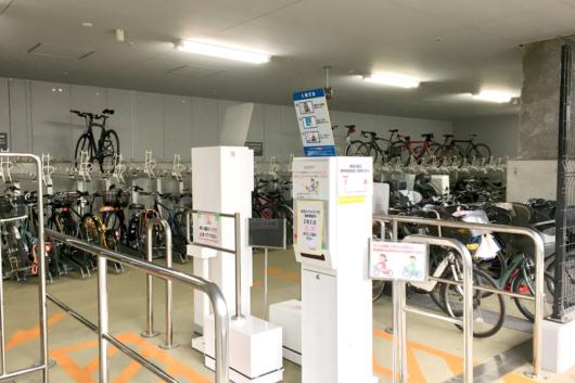 品川シーズンテラスの駐輪場。